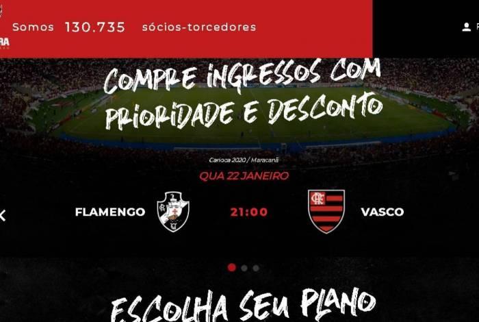 Gafe em site do Flamengo