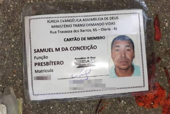 Samuel Menezes era presbítero de igreja evangélica e morreu com um tiro na cabeça na Vila Cruzeiro