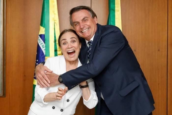 Regina Duarte chegou a Brasília e se encontrou com Bolsonaro