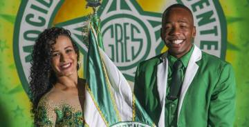 O Carnaval faz parte da vida do casal de mestre-sala e porta-bandeira desde criança
