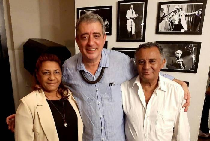 Seu Antonio e Dona Marinete Franco (pais da Marielle Franco) prestigiando o show de Didu Nogueira & Jorge Simas.