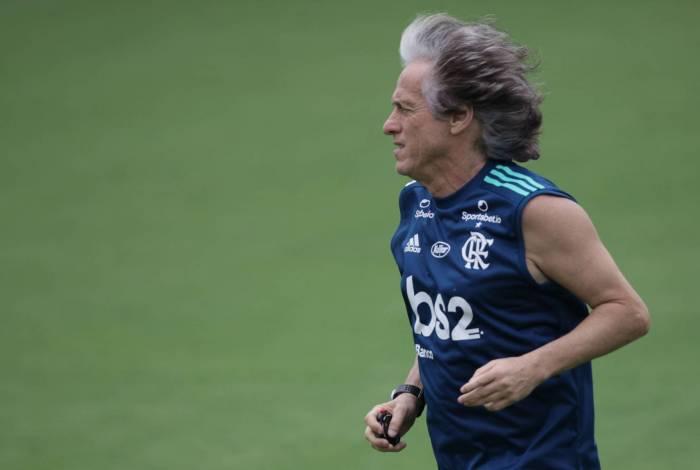 O técnico Jorge Jesus vai escalar reservas em boa parte da Taça Rio