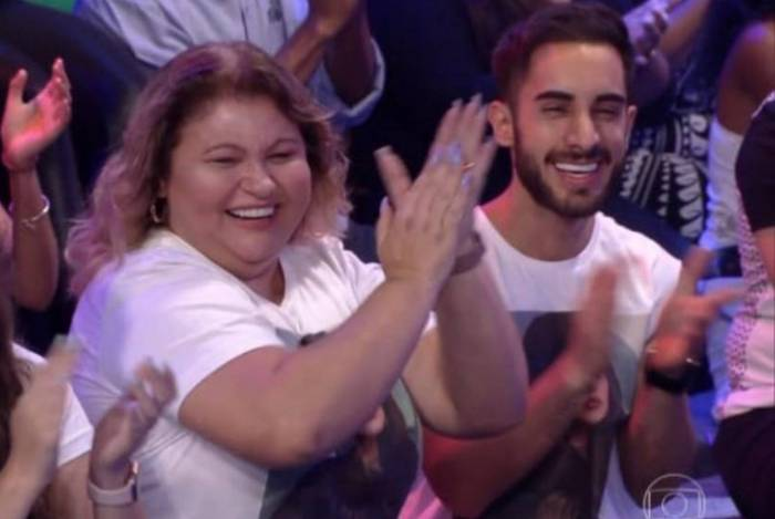 Diogo Melim na plateia do 'Big Brother Brasil'