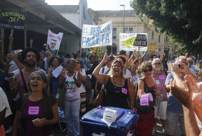 Moradores de Paquetá têm protestado contra mudanças da CCR