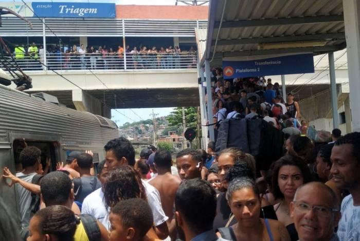 Passageiros enfrentaram transtornos na região de Triagem