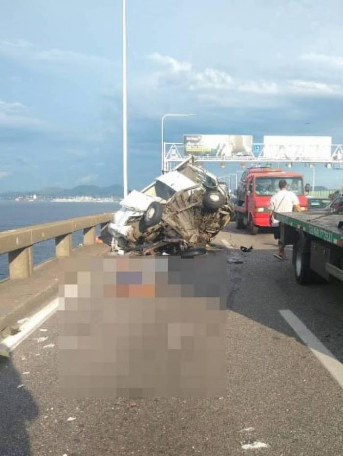 Acidente deixa um homem morto na Ponte Rio-Niterói