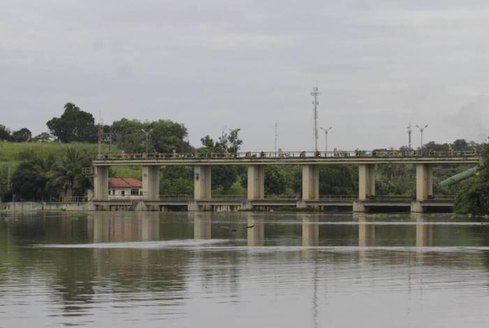 Área de captação de água da estação de tratamento do Rio Guandu
