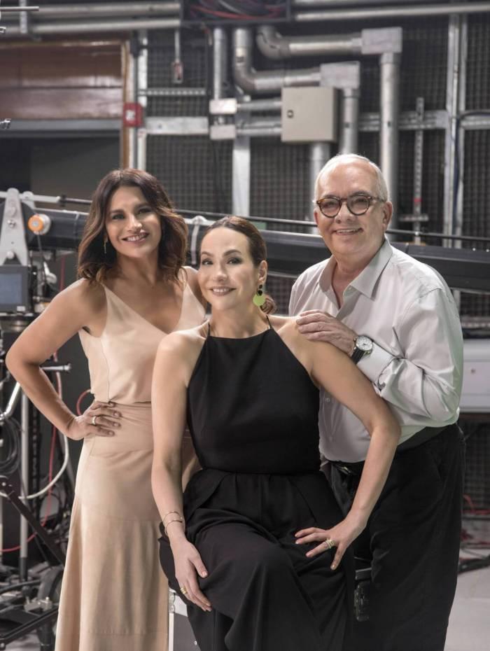 Dira Paes, Maria Beltrão e Artur Xexéo no comando da transmissão