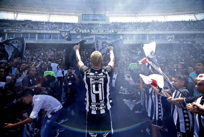 Apresentacao de Honda do Botafogo no Estadio Nilton Santos. 08 de Fevereiro de 2020, Rio de Janeiro, RJ, Brasil. Foto: Vitor Silva/Botafogo. .Imagem protegida pela Lei do Direito Autoral Nº 9.610, DE 19 DE FEVEREIRO DE 1998.