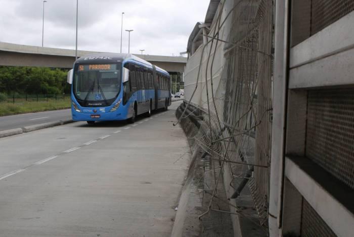 Rio de Janeiro - RJ  - 10/02/2020 - Especial BRT Transolimpica - na foto, Estaçao Morro do Outeiro, Recreio dos Bandeirantes, zona oeste do Rio de Janeiro -  Foto Reginaldo Pimenta / Agencia O Dia