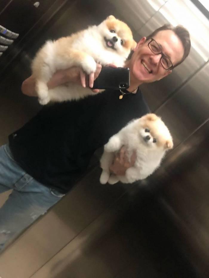 Celso Zucatelli e seus pets
