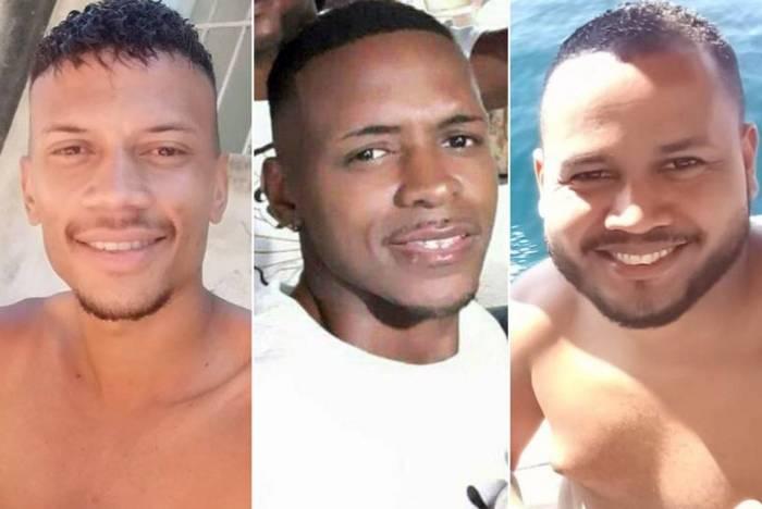 Da esquerda para a direita: Filipe dos Santos, Daniel Victorino e Anderson Reis