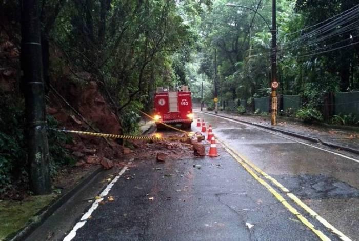 Deslizamento de terra na Estrada das Furnas