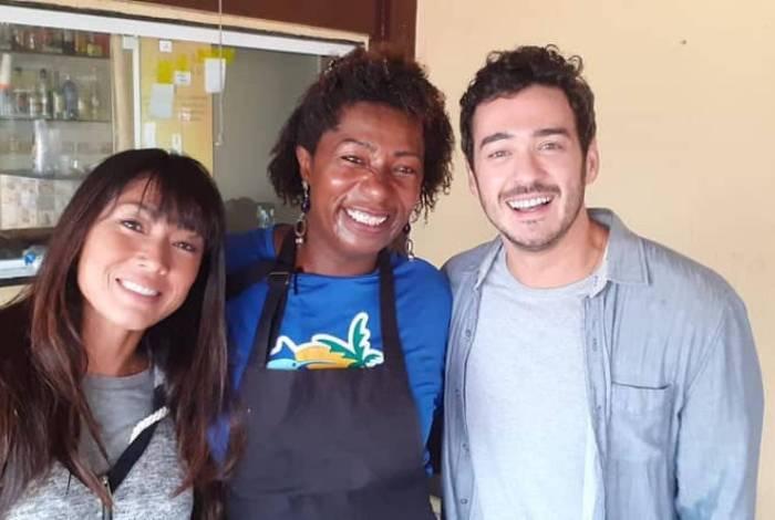 Daniele Suzuki, Zezé e Marcos Veras em Itaipu