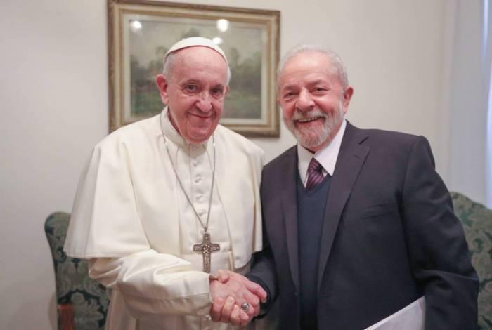 Lula encontra Papa Francisco