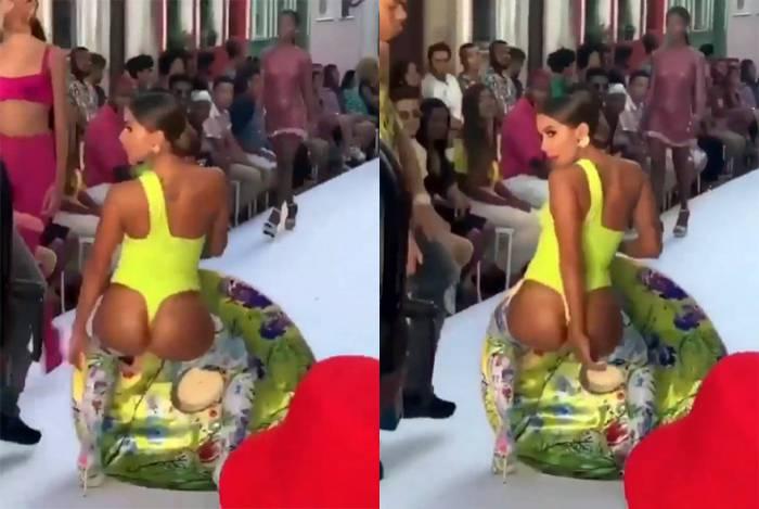 Anitta grava clipe na região do Centro Histórico de Salvador, na Bahia
