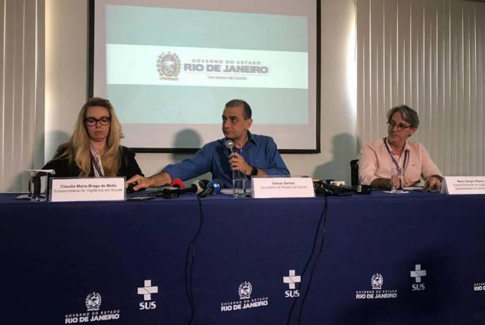 Secretaria estadual de Saúde faz coletiva sobre o caso