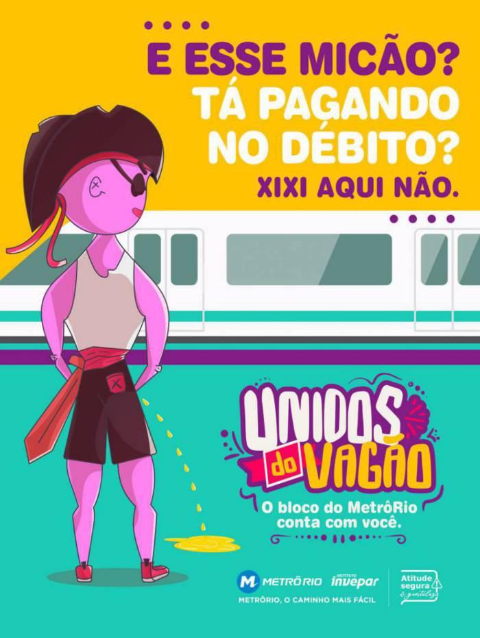 MetrôRio lança campanha contra atos de assédio e vandalismo no carnaval