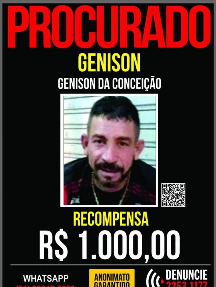 Cartaz tem recompensa de R$ 1 mil reais