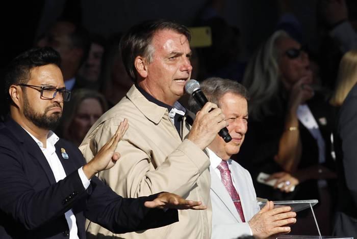 Jair Bolsonaro agradeceu ao público pelas orações e afirmou 'o Brasil tem um presidente evangélico'