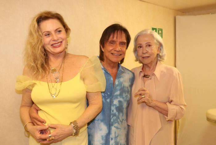 Vera Fisher, Fernanda Montenegro e Roberto Carlos