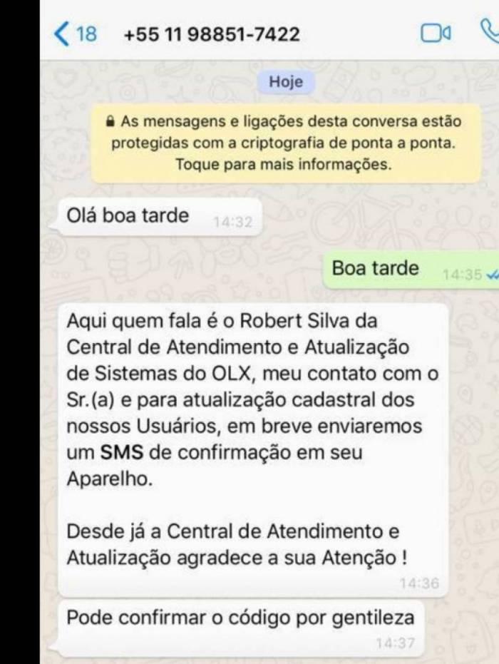 Um dos modelos de ataques usados por golpistas no WhatsApp