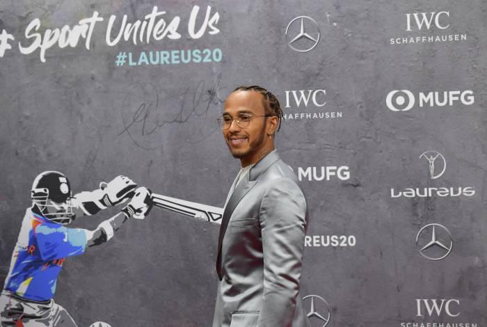Hexacampeão mundial de F-1, Lewis Hamilton dividiu o Laureus com o argentino Lionel Messi