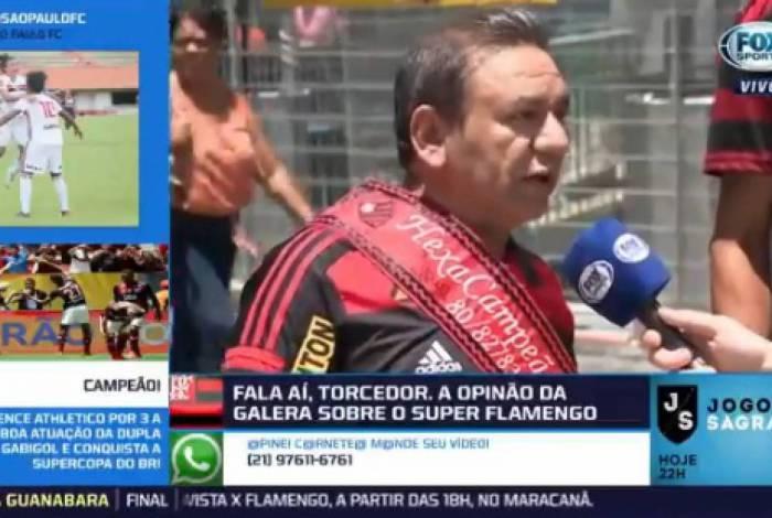 Torcedor diz na TV que Flamengo tem dado mais alegria que sua mulher: N�o quer mais fazer sexo comigo