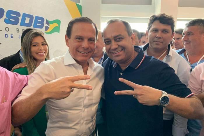 O tucano João Doria e Max Lemos, prefeito por oito anos em Queimados
