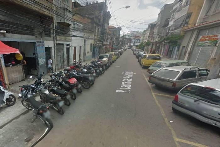 Rua Laura de Araújo, Cidade Nova, onde aconteceu ataque a tiros com um morto e um baleado