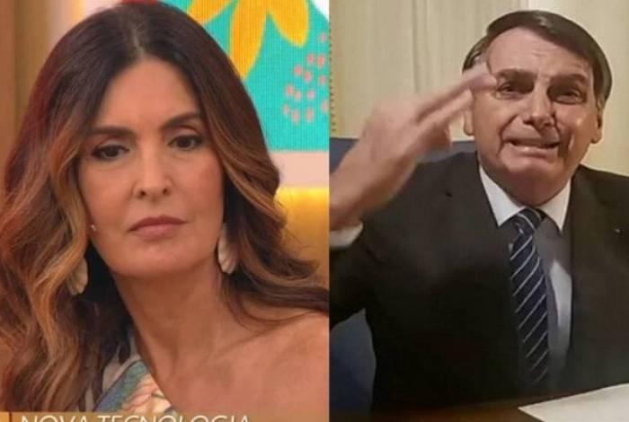 Fátima Bernardes criticou Bolsonaro ao vivo no 'Encontro'