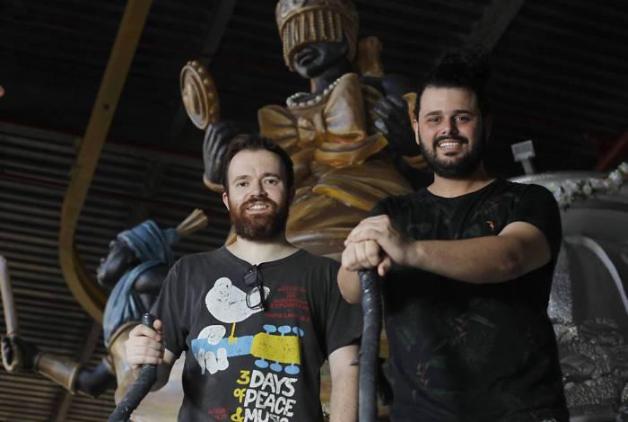 Rio de Janeiro 19/02/2020 - Os Carnavalescos da Grande Rio Gabriel Haddad e Leonardo Bora. Foto: Luciano Belford/Agencia O Dia
