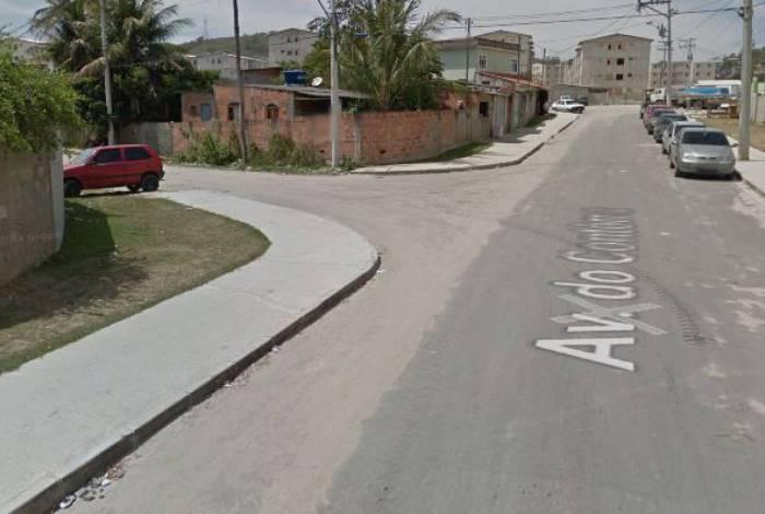 Avenida do Contorno, no Jóquei, em São Gonçalo