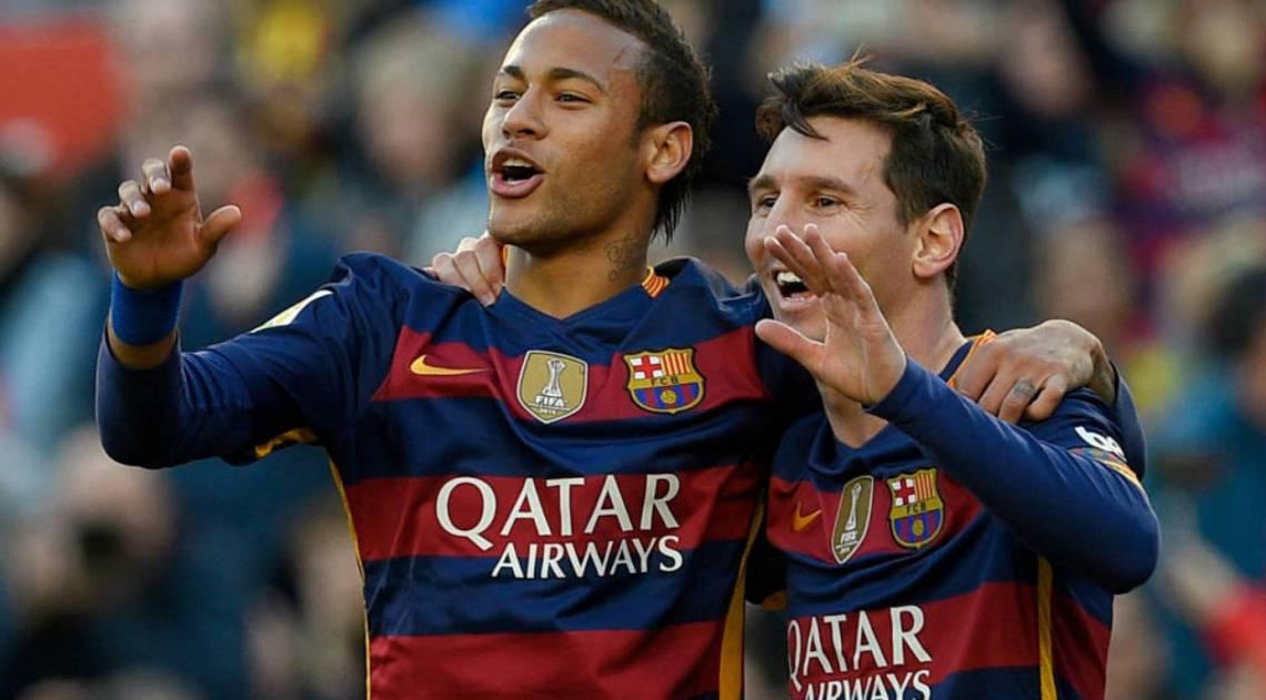 Neymar posta foto com Messi após sorteio da Liga dos ...