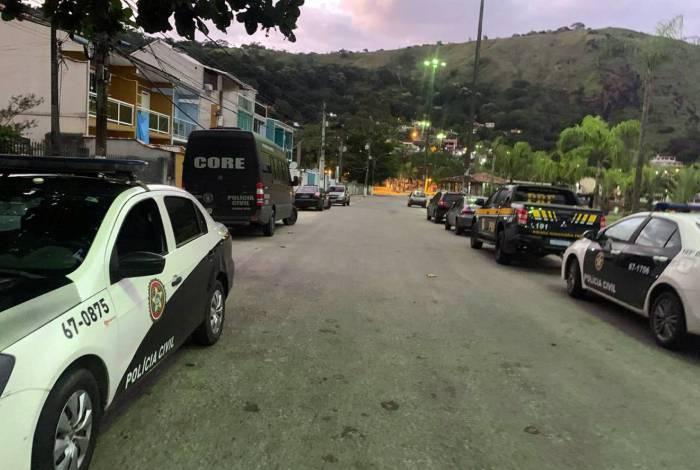 Ação envolveu quatro forças de segurança