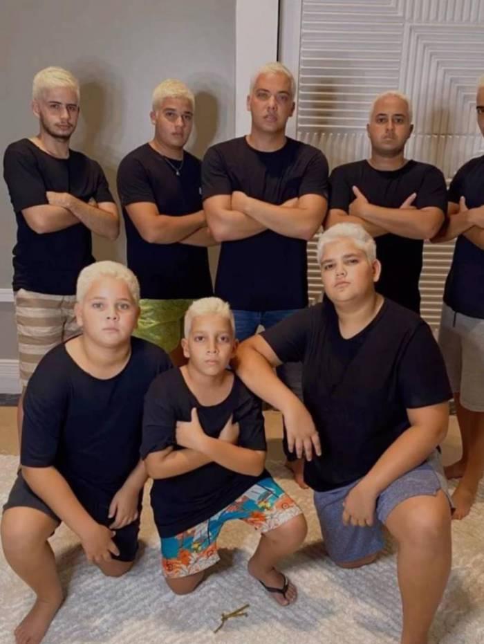 Wesley Safadão e seus primos mudam o visual para o Carnaval