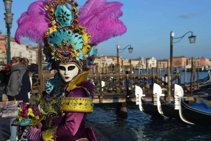 Tradicional Carnaval de Veneza, na Itália