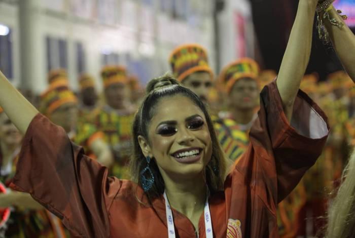 Carnaval 2020 - Desfile da Escola de Samba do Grupo de Acesso, G.R.E.S Unidos de Bangu, no Sambódromo da Marquês de Sapucaí, no centro da cidade do Rio de Janeiro nesta Sábado (22). Foto: Ricardo Cassiano/Agencia O Dia