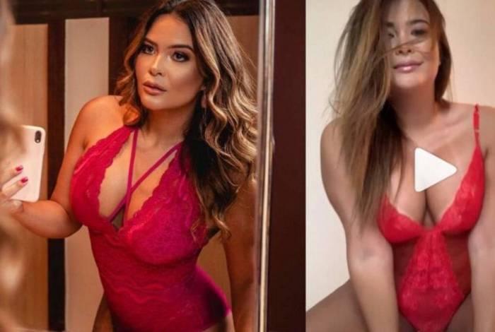 Geisy Arruda posta vídeo sensual