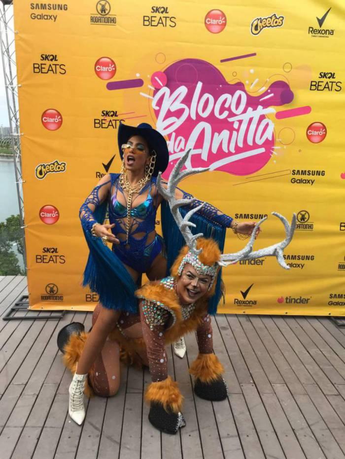 Anitta e David do Brasil