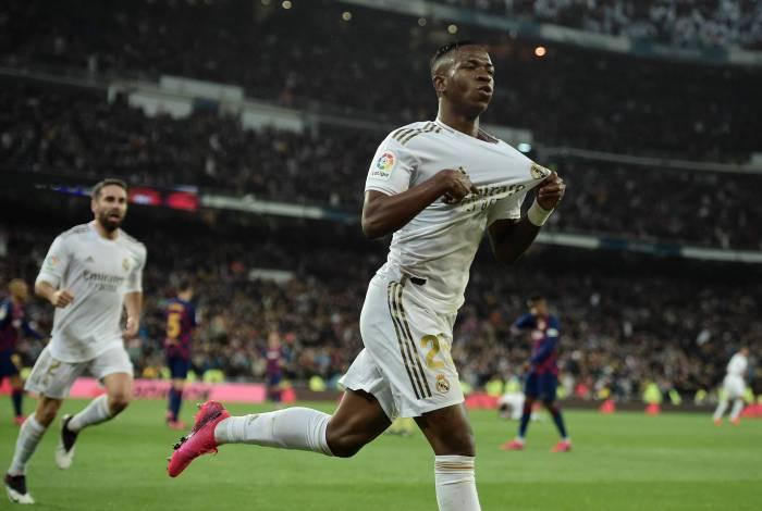 Vinicius Junior festeja gol do Real