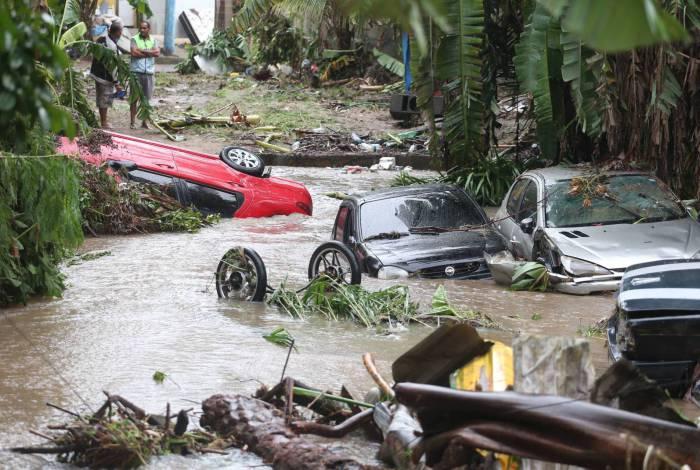 Chuva destrói bairro em Realengo ,na foto. .Foto: Cleber Mendes/Agência O Dia