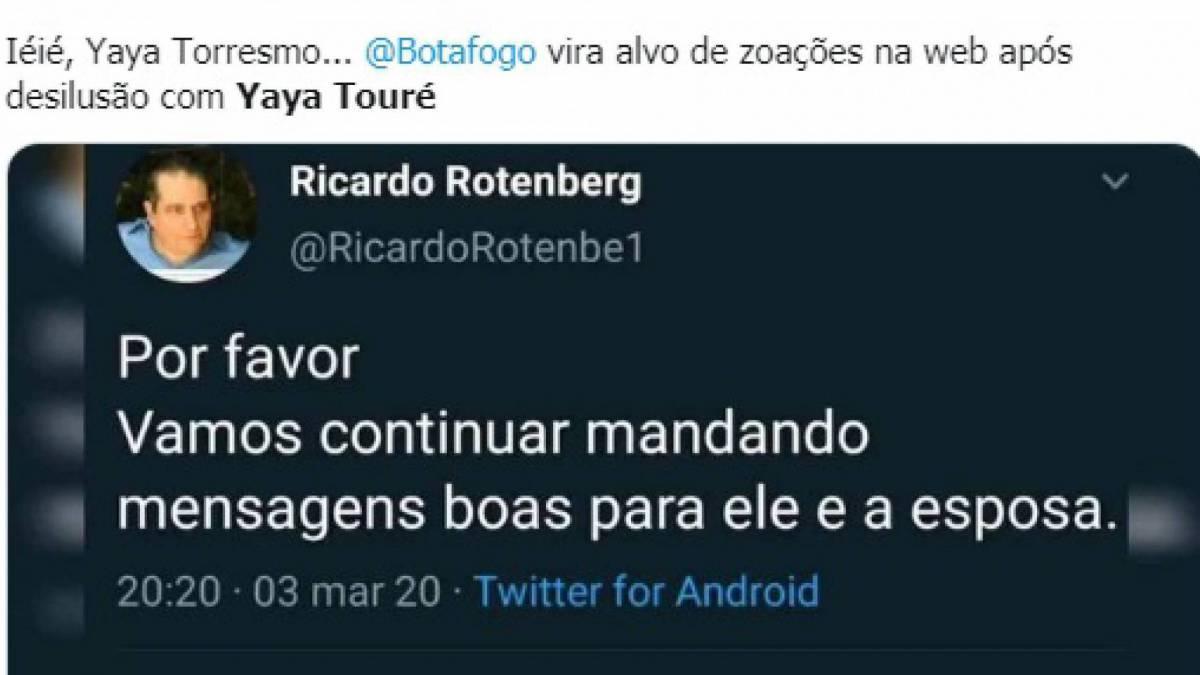 Botafogo não chegou a um acordo com Yaya Touré