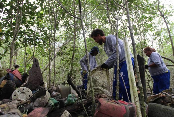 Projeto Uçá realizou a operação LimpaOca de manguezais da Baía de Guanabara