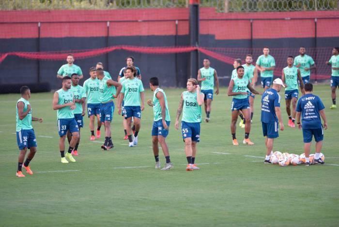 09/03/2020 - Rio de Janeiro - RJ - Treino do Flamengo no ninho do Urubu em Vargem Grande para o jogo da libertadores Foto:Fabio Costa/Agencia O Dia