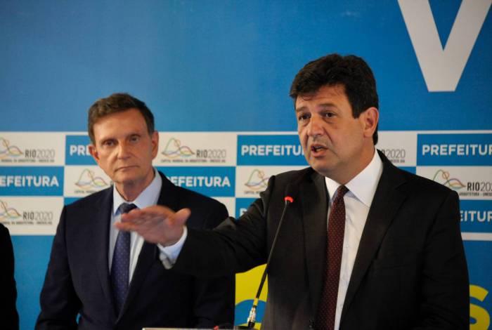 O ministro da Saúde, Luiz Henrique Mandetta, esteve no Rio nesta quinta-feira