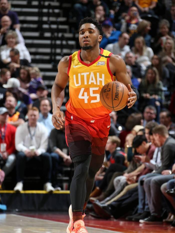Donovan Mitchell é companheiro de Gobert no Utah Jazz