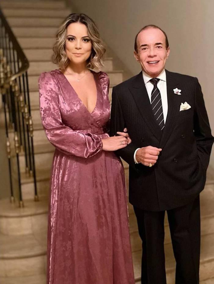 Chiquinho Scarpa e sua nova namorada, Fernanda