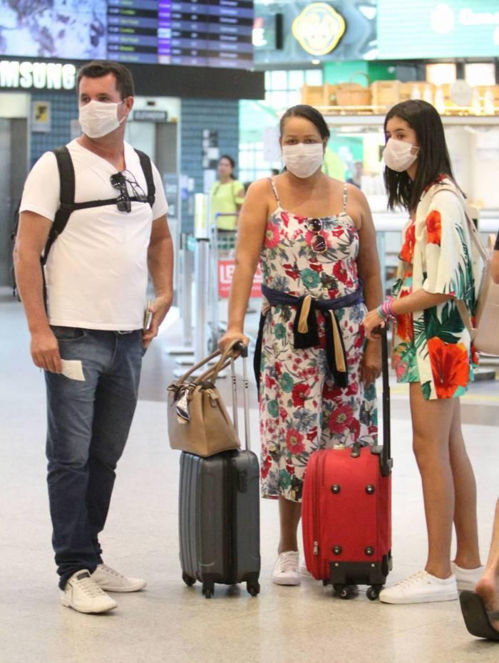 Passageiros no aeroporto Santos Dumont