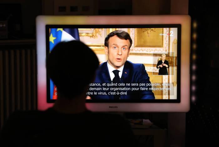 Pronunciamento do presidente francês, Emmanuel Macron